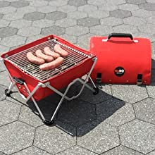 unfolded, grate, cooking, brats, grilling