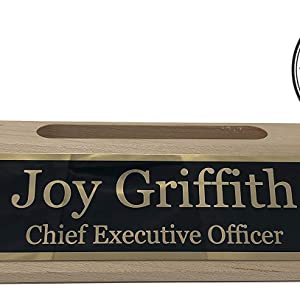 Maple wood desk name plate