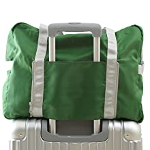 The sports duffels bag design with a back open sleeve to place the bag on the carrier or suitcase