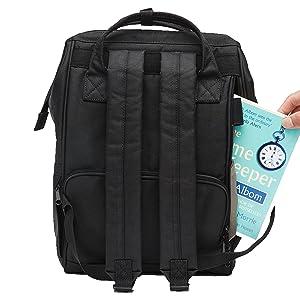 Open back backpack