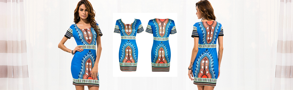 kureas short sleeves slim bodycon dress print african dress