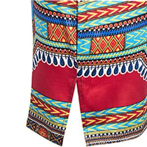 African Dashiki Printi Bohemian Beach Short Dress