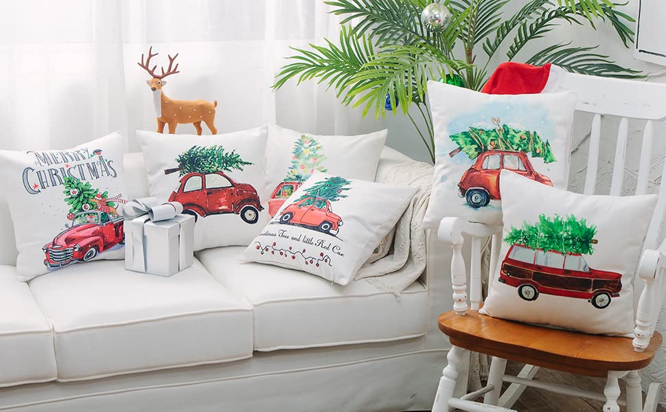 Christmas decorative throw pillow covers