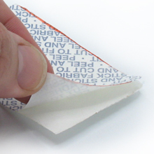 Peel to expose the adhesive and press onto the back of the badge or patch