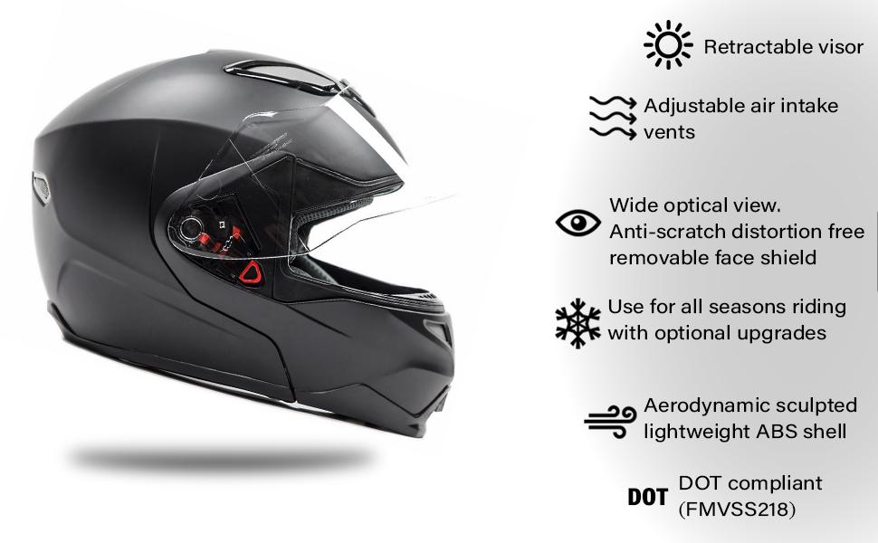 modular full face helmet motorcycle snowmobile