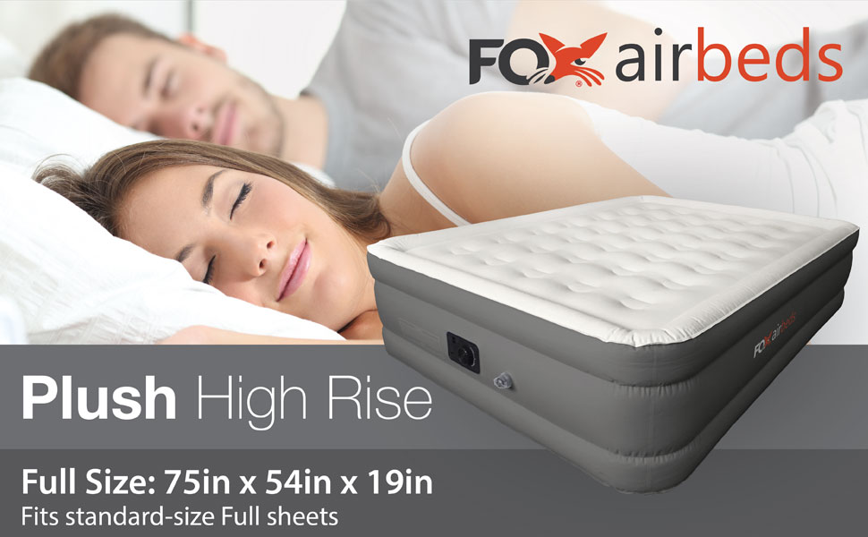 the fox airbeds full mattress fits standard size bed sheets and is 19 inches tall