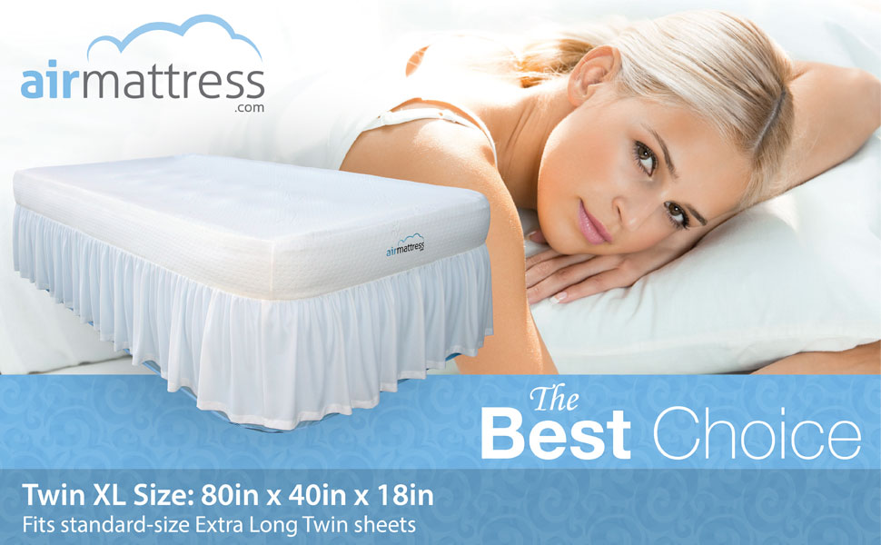 the twin size best choice air mattress with built in pump fits regular bed sheets