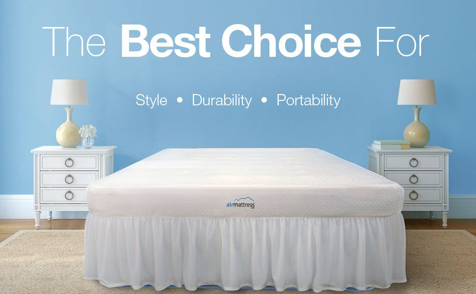 the king size best choice air mattress wins over the competition in style durability and portability