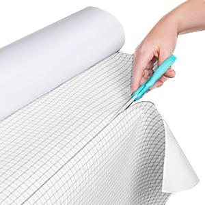 Adhesive white board paper