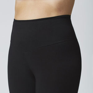 bootleg bootcut opaque black fitted slimming shaping lightweight leggings flare tummy control crops
