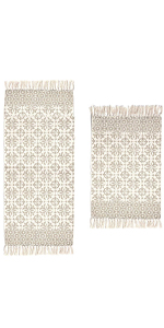 Printed Cotton Rugs with Tassel