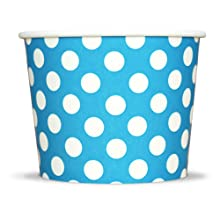 Blue Polka Dotty Paper Ice Cream Cups