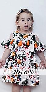 baby girl off shoulder dress