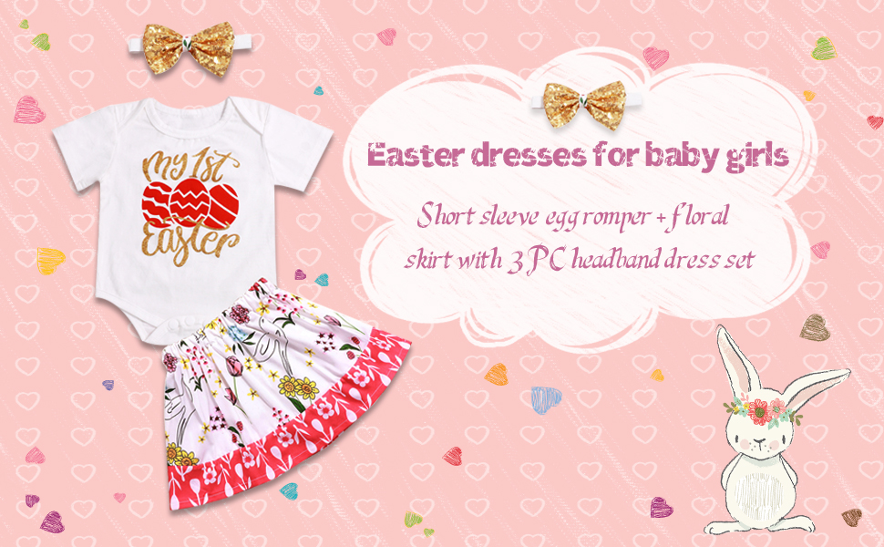 baby girl easter outfit set