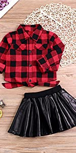 baby girl red plaid outfit
