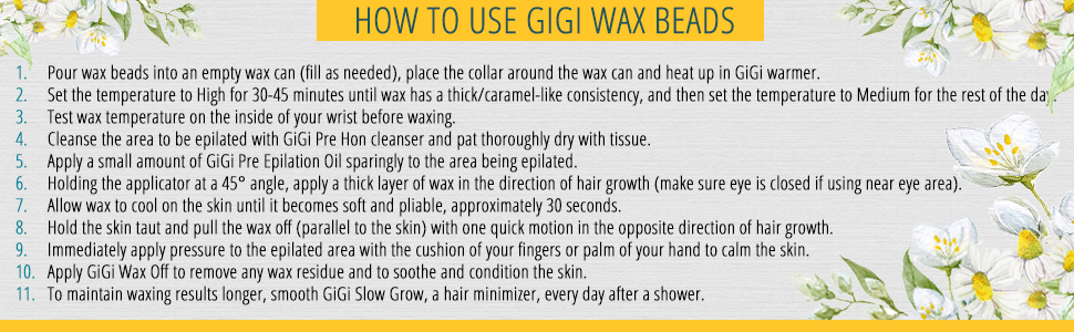 how to use wax beads