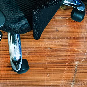 Hard surface floor protecting chairmats