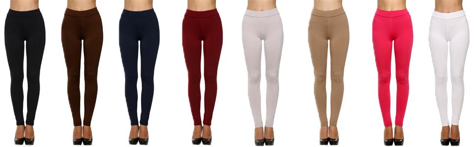 Avidlove Women Full Length Trousers Stretch Waist Leggings Skinny Pencil Pants Thick