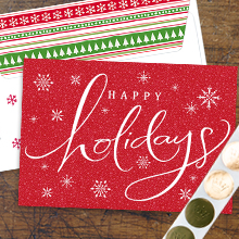 business holiday cards with envelopes