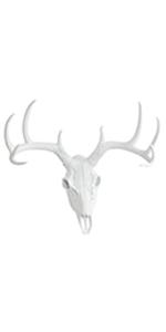 Large White Faux Skull Deer