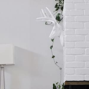 Wall Charmers White Faux Deer Head Side View
