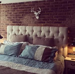 Mini White Faux Deer Head Bedroom Decor