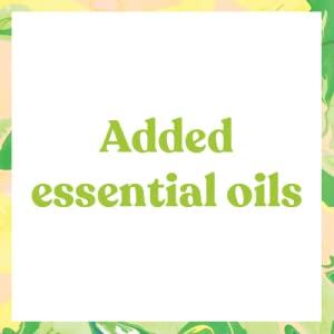 added essential oils