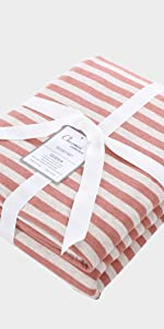 Striped Jersey Duvet Cover Set