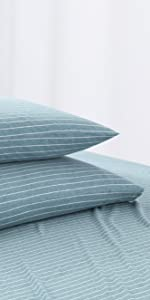 Pinstriped Jersey Pillowcase Set