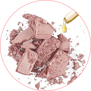 If your eyeshadow broken, you can try the steps, it will be restored.