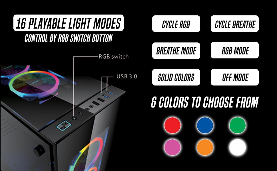 RGB playmodes