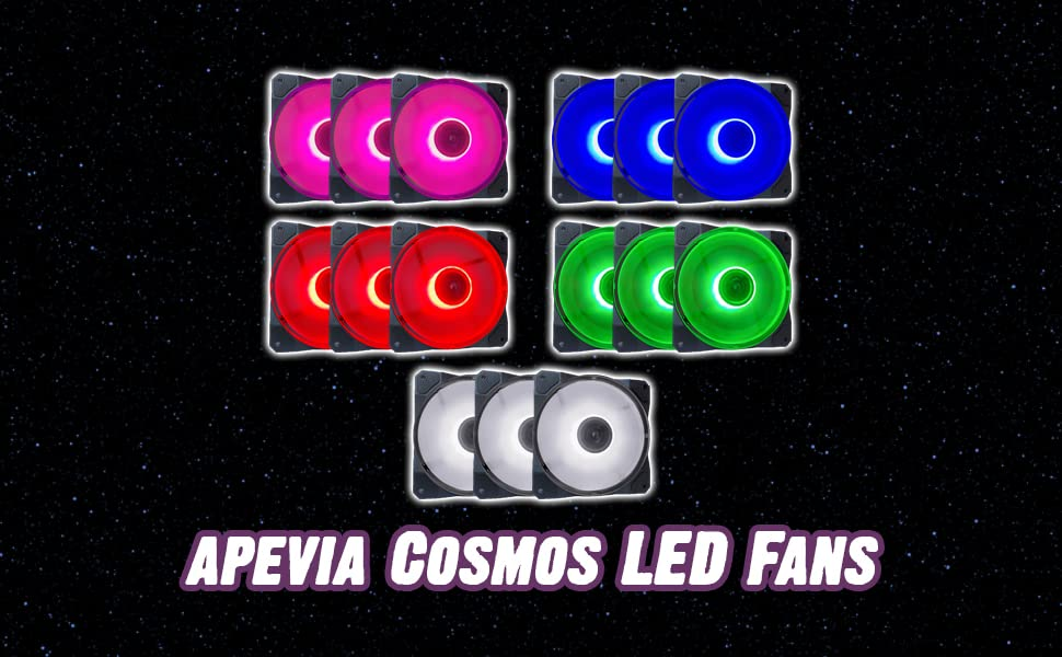 Apevia Cosmos LED Fans banner