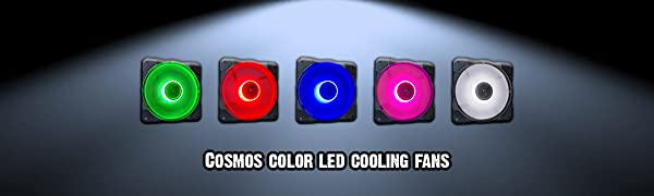 Cosmos color led cooling fans banner