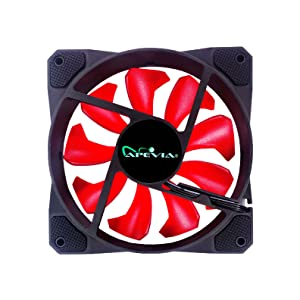 Back view of red cosmos LED fan