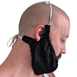 Beard Gains Bib Bandana Mens Facial Hair Apron Guard Bonnet chinstrap beardana net beardrag snood