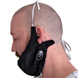 Beard Gains Bib Bandana - Mens Facial Hair Apron Guard Bonnet chinstrap beardana net beardrag snood