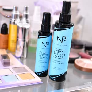 dewy setting spray, setting spray, facial spray, face mist, dewy, moisturizing