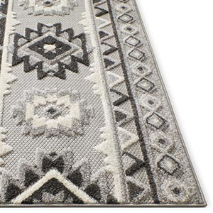 Well Woven Dorado Indoor Outdoor High Low Pile Easy Clean Weather Resistant Area Rug Carpet