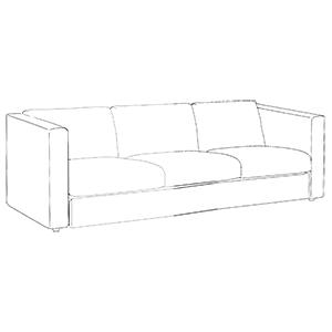 high arm sofa