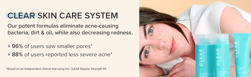 Paula's Choice CLEAR Skincare system eliminates bacteria, dirt and oil while reducing acne redness.