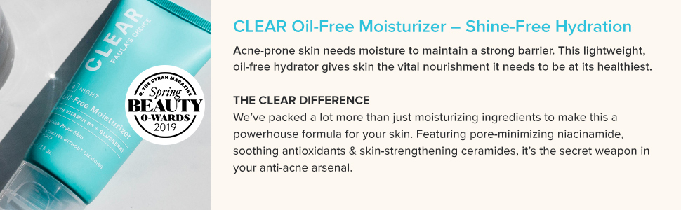 Hydrating soothing moisturizer for acne prone skin that is best for oily skin and a pore minimizer.