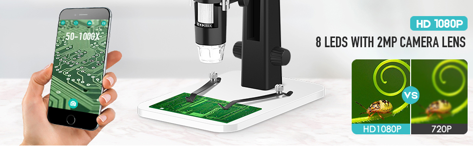 50x-1000x magnification microscope