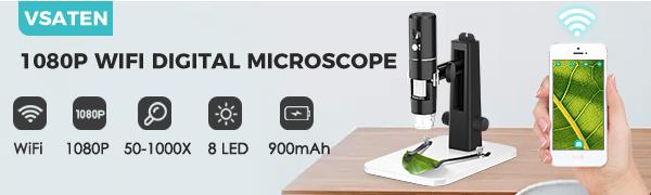 1080P HD wifi digital microscope