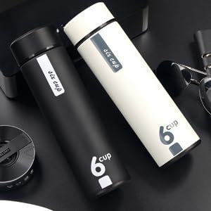 Elegant black and white Thermos