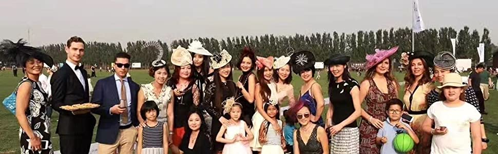 ABPF Elegant High-Fashion Headband Fascinators, Church Hats and Hair Clips for Special Occasions