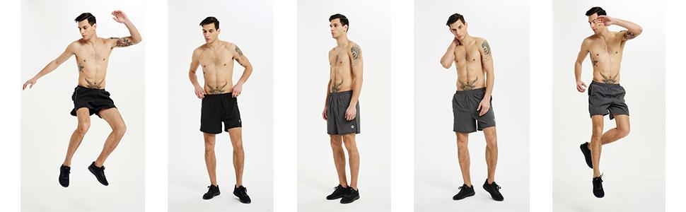 Rabrgab Men's Running Sports Shorts