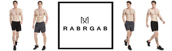 RABRGAB Men's Running Shorts