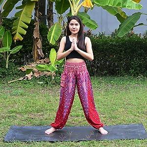 buddha pants yoga pants palates pants excercise pants pink pants maroon pants peacock pants