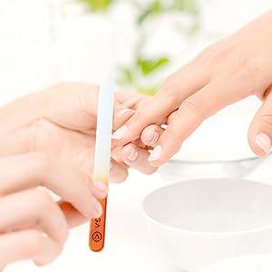 glass nail file nail set nail buffer block peel off base coat press on nails for women
