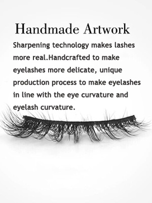 1.Sharpening technology makes lashes more real